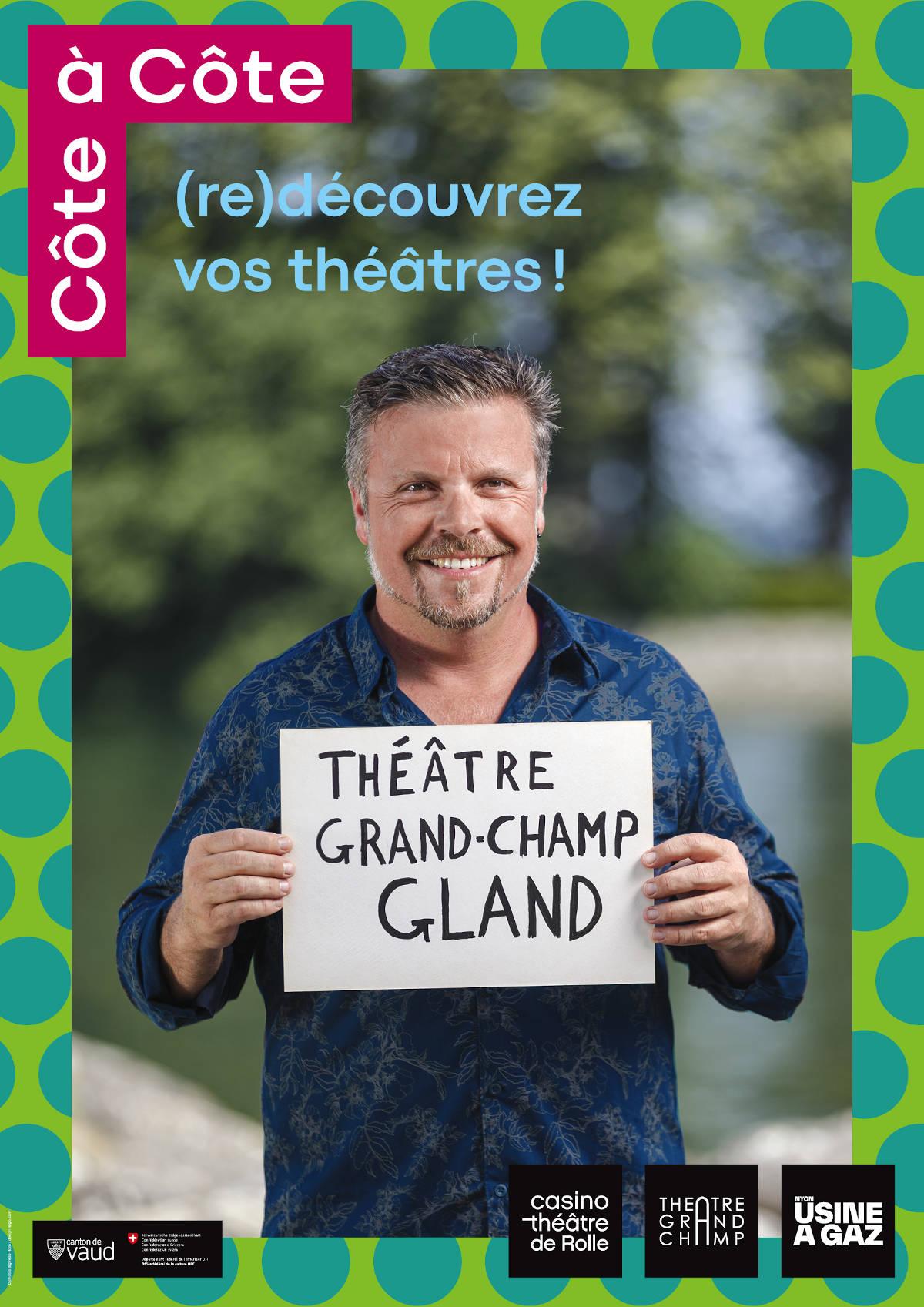 Affiche Côte à Côte · Théâtre de Grand-Champ, Gland